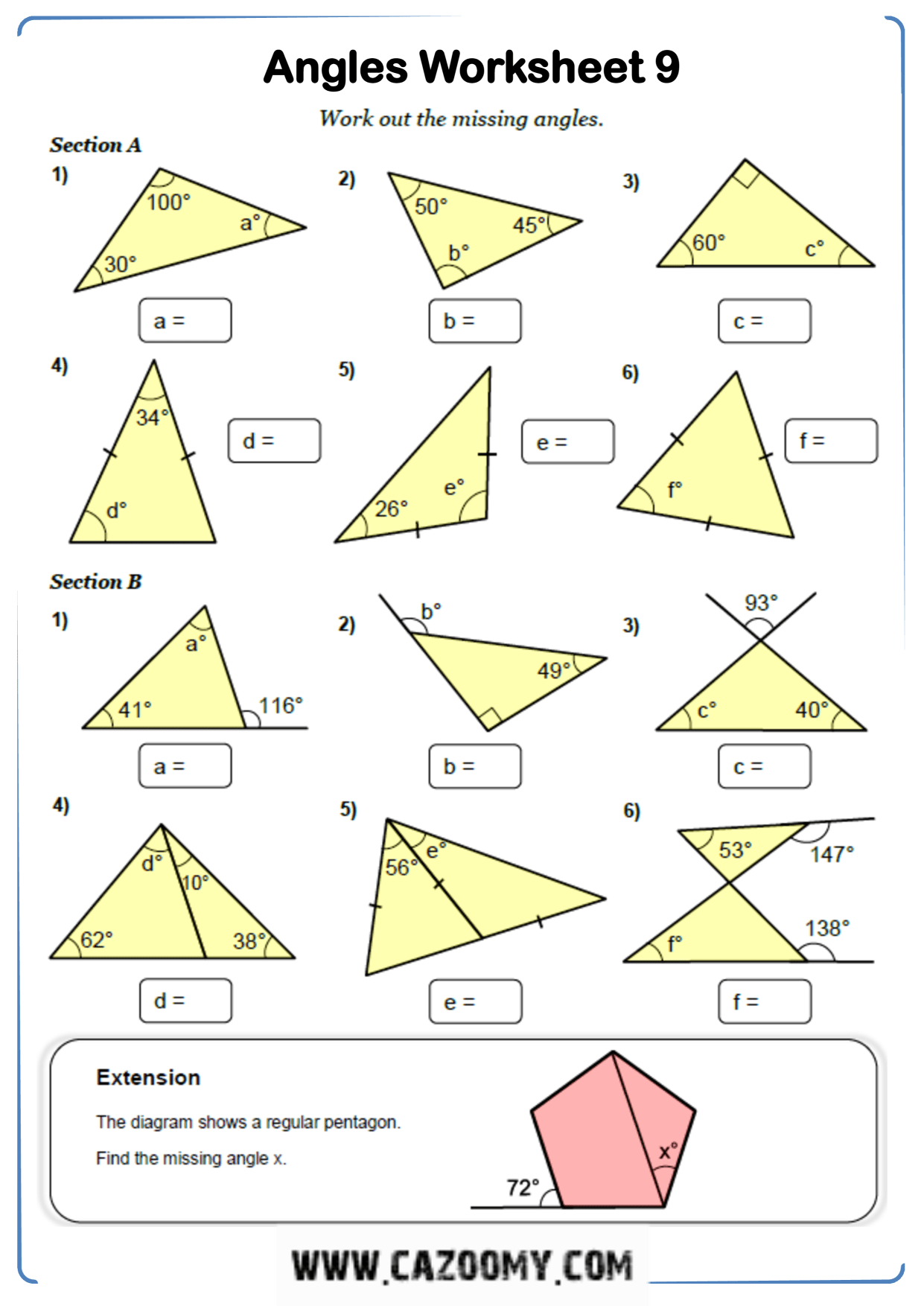 Free Professional Maths Worksheets
