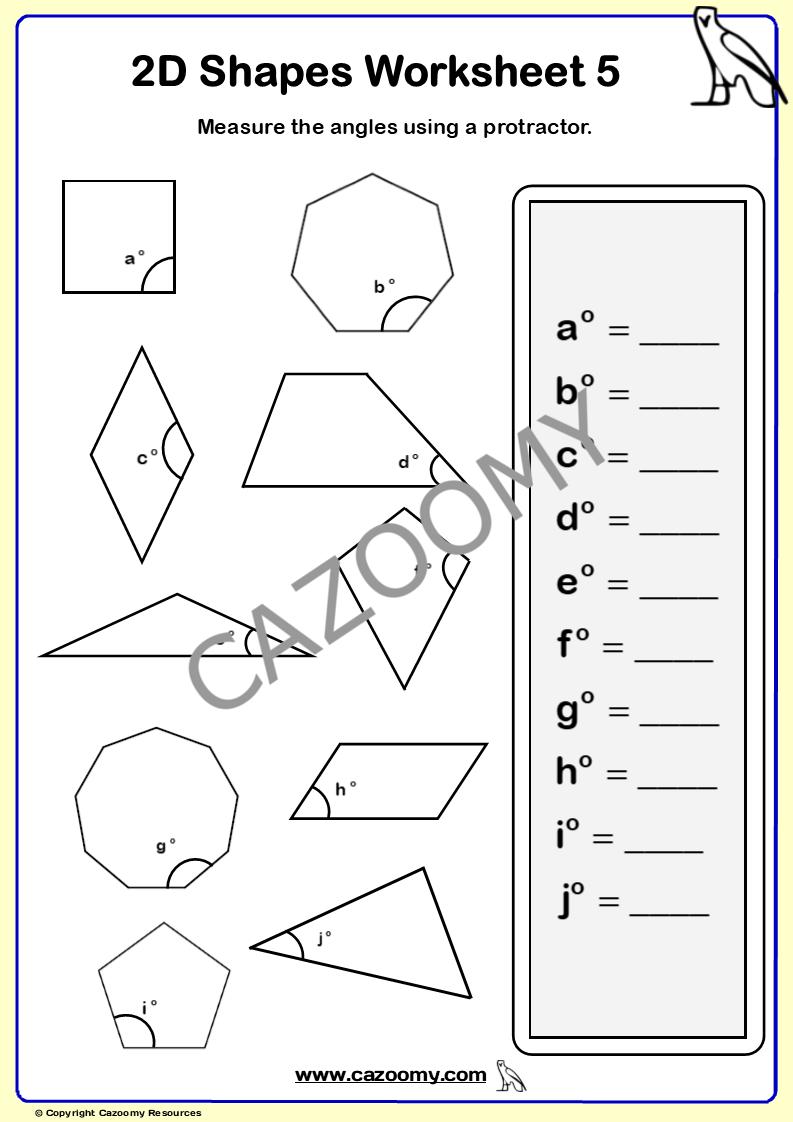 medium resolution of 2D Shapes Worksheets - New \u0026 Engaging   Cazoomy