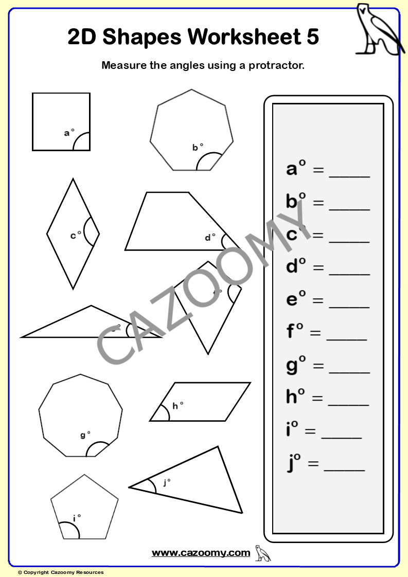 hight resolution of 2D Shapes Worksheets - New \u0026 Engaging   Cazoomy