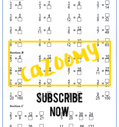 Equivalent Fractions Worksheets - New \u0026 Engaging   Cazoomy [ 1754 x 1240 Pixel ]