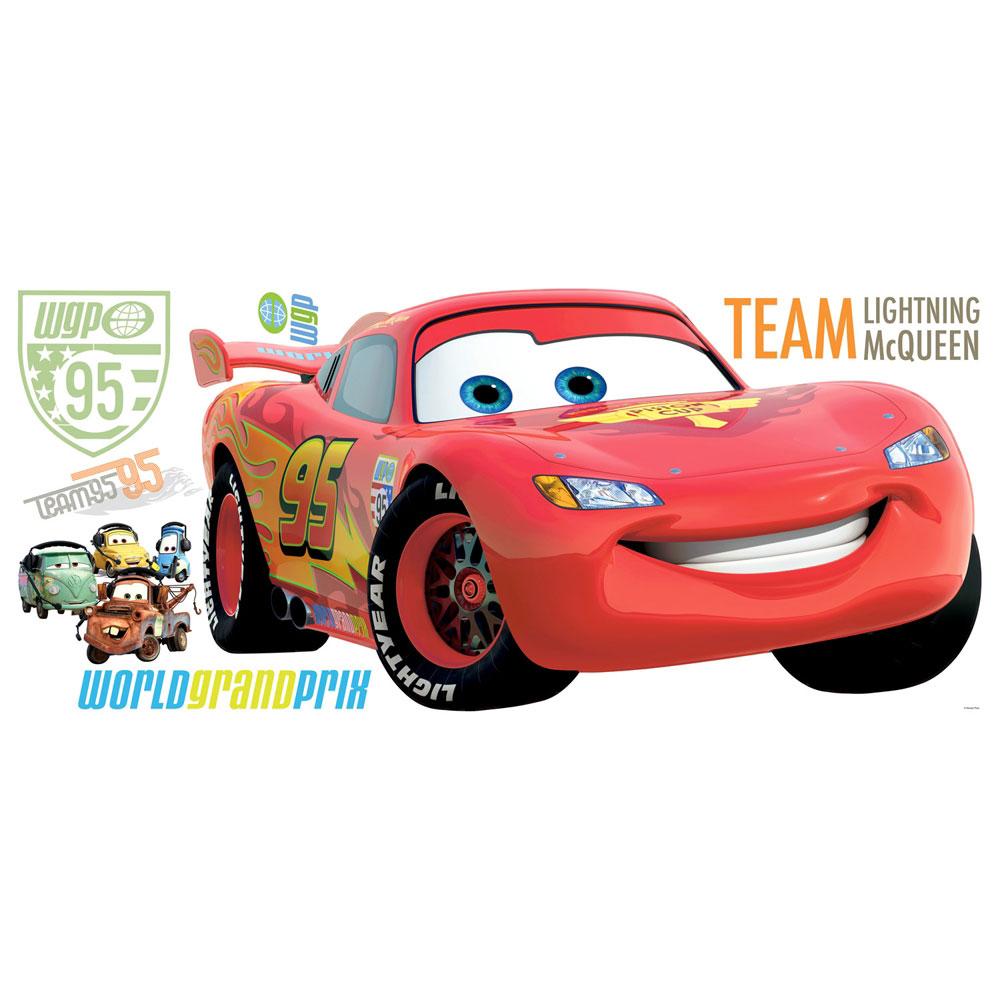 Disney Pixar Cars World Wallpaper Mural Adesivo Cars 2 Lightning Mcqueen Gigante Disney Cazulo