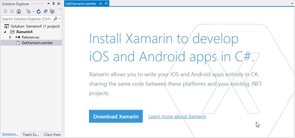 Install Xamarin