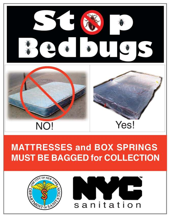 The New York City Department Of Sanitation Will Require All Residents To Fully Encase Within A Sealed Plastic Bag Mattresses Or Box Springs