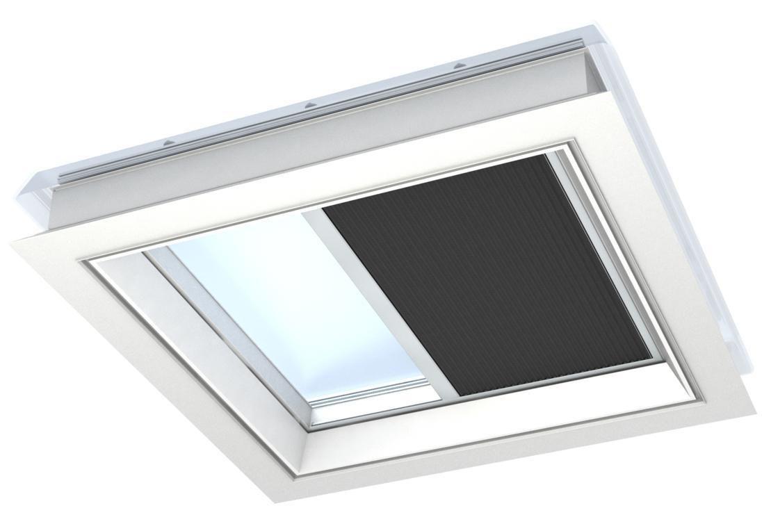 fsk pour toit plat noir 120x120 cm