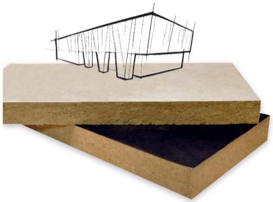 panneau semi rigide en laine de roche