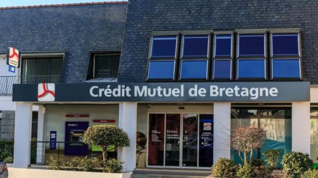 Agence du Crédit Mutuel de Bretagne à Plabennec en 2016.