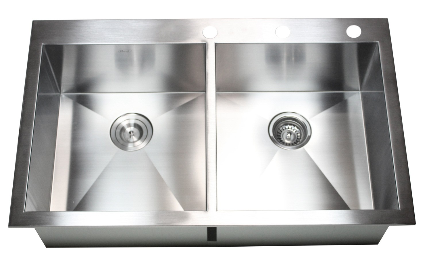 36 kitchen sink island with built in stove inch top mount drop stainless steel double bowl zero radius design