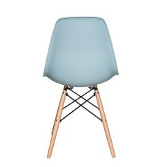 Eiffel Dining Chair With Beech Legs Sure Fit Covers Australia Nature Series Ice Blue Eames Style Dsw Molded Plastic