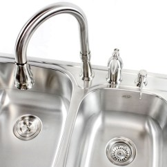 22 Inch Kitchen Sink Remodeling St Louis 33 Top-mount / Drop-in Stainless Steel Double Bowl ...