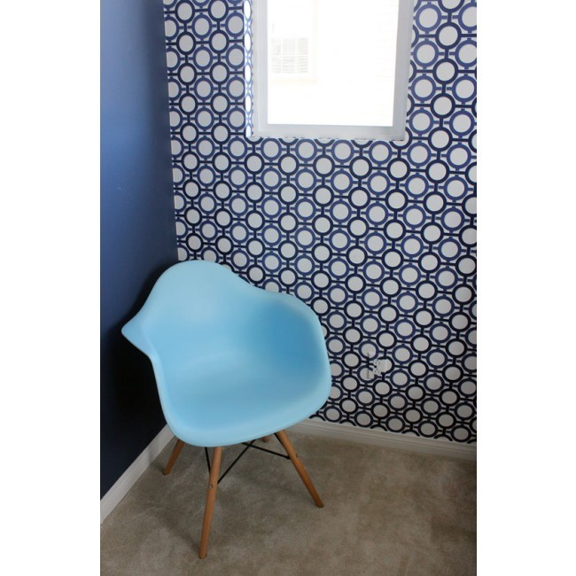 eiffel chair wood legs swing size eames style daw dining armchair with in sky blue