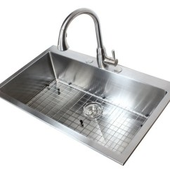 22 Inch Kitchen Sink Lowes Outdoor 36 Top-mount / Drop-in Stainless Steel Single Bowl ...