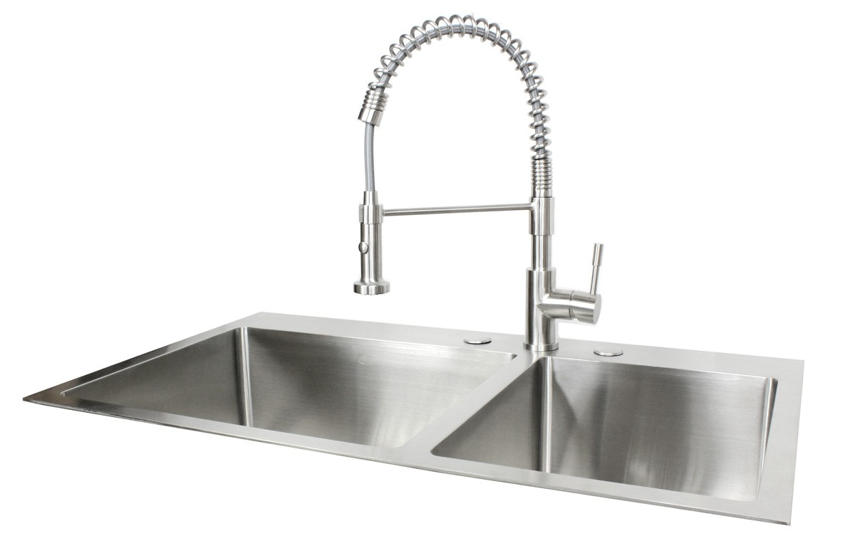 36 kitchen sink discount cabinet hardware inch top mount drop in stainless steel 60 40 double bowl more views