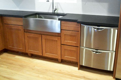 36 inch kitchen sink menards in stock cabinets stainless steel single bowl flat front farm apron 5