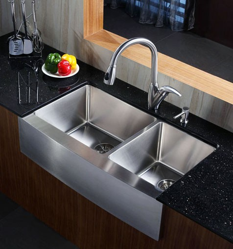kitchen sink dimensions wayfair cabinets 36 inch stainless steel curved front farm apron 60/40 ...