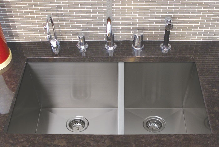 stainless steel undermount kitchen sinks islands with sink 32 inch 60/40 double bowl ...