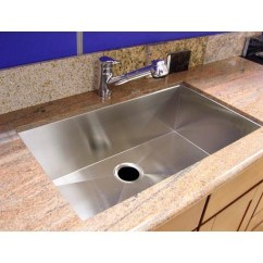 Undermount Single Bowl Kitchen Sink Cabinet Refacing Los Angeles 36 Inch Stainless Steel ...