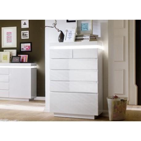 commode design laque blanc 6 tiroirs cbc meubles