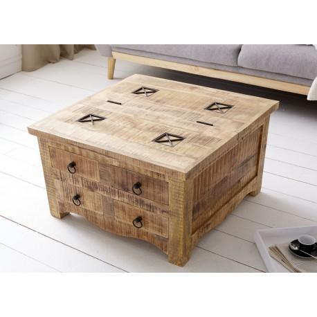 table basse carree bois massif avec coffre de rangement cbc meubles