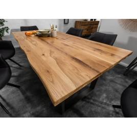 table de salle a manger bois et massif et metal 180 cm