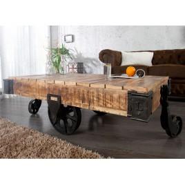 table basse design sur roulette 120 160 cm