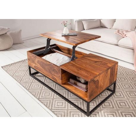table basse rectangulaire en bois avec plateau relevable cbc meubles