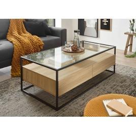 table basse de salon bois verre cbc