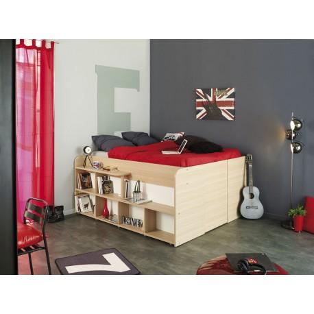 lit combine 140x200 cm gain de place roxy cbc meubles