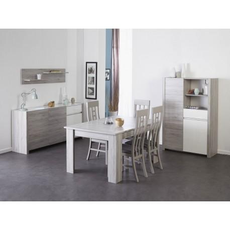 salle a manger gris portofino et blanc brillant louno cbc meubles
