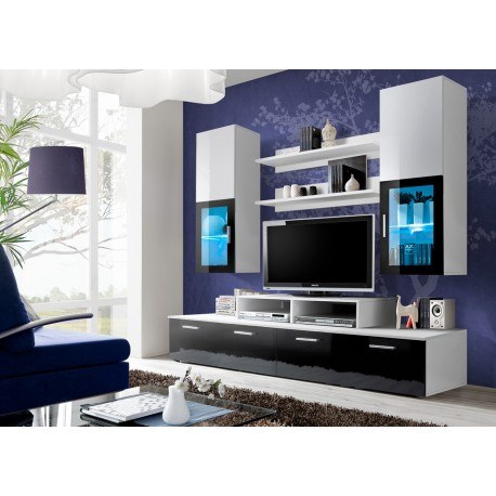 composition tv design blanc noir marty cbc meubles