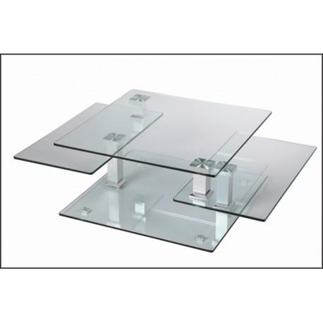table basse design carree en verre extensible astucia 180 cbc meubles