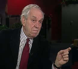 Former NDP leader Ed Broadbent speaking in Toronto Wednesday.