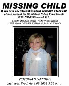Tori Stafford was last seen leaving her school on Wednesday afternoon.