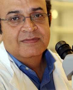 Prof. Karim Nayernia, seen here at work in Newcastle, England, says the research will help further study the development of sperm and possibly help create treatments for infertile men.