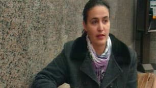 Amal Asmar was sitting on a bench on Ste-Catherine Street in Montreal on Feb. 4 when she was approached by police.