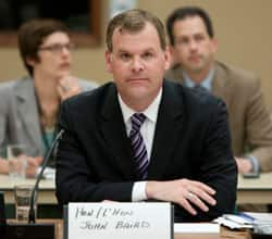Transport Minister John Baird waits to testify before the Commons ethics committee on Parliament Hill in Ottawa Tuesday.