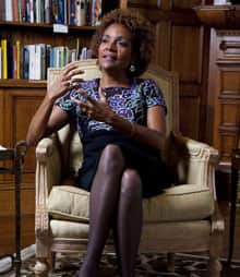 Gov. Gen. Michaëlle Jean is seen during a farewell interview in her in office at Rideau Hall in Ottawa on Tuesday.