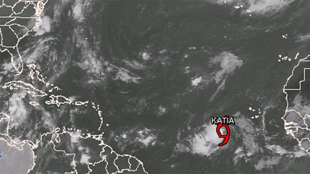 The name Katia replaces Katrina, which was retired from the rotating roster of storm names after the devastating 2005 storm that devastated New Orleans.