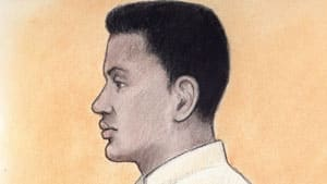 A court sketch of Shakti Ramsurrun, who faces three counts of first-degree murder in relation to the deaths of his estranged partner, her mother and her step-father.
