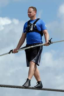 High wire performer Nik Wallenda will attempt to walk across the Grand Canyon.