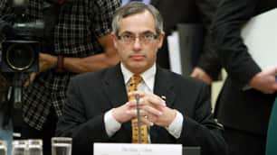 Industry Minister Tony Clement appears before the House of Commons industry committee in Ottawa in July.