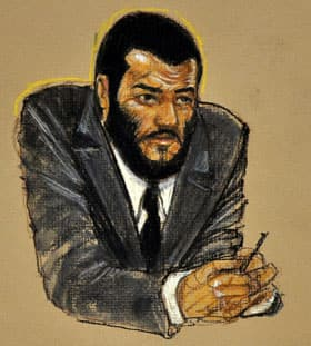 Omar Khadr listens to proceedings during his sentence trial at the U.S. Naval Base in Guantanamo Bay, Cuba, on Wednesday.