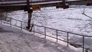 Ice Jam near Calgary Pathway