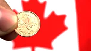 According to a Royal Canadian Mint survey released in October 2007, 63 per cent of small retailers said they were in favour of getting rid of the penny, citing efficiency as their prime motivation.