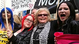 Participants in Sunday's Slut Walk marched from Queen's Park to Toronto police headquarters.