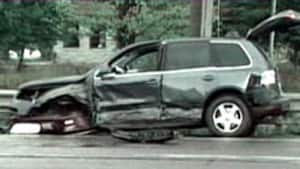 A number of vehicles were heavily damaged in the 2007 crash.