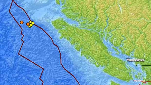 A swarm of earthquakes struck off Vancouver Island in recent weeks.