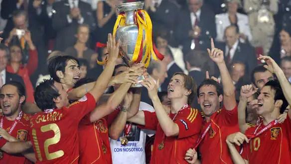 Celebración del campeonato europeo de naciones (foto de Getty Images)