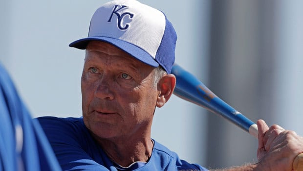George Brett, seen at spring training in Sunrise, Ariz., spent his entire two-decade career as a player with Kansas City.
