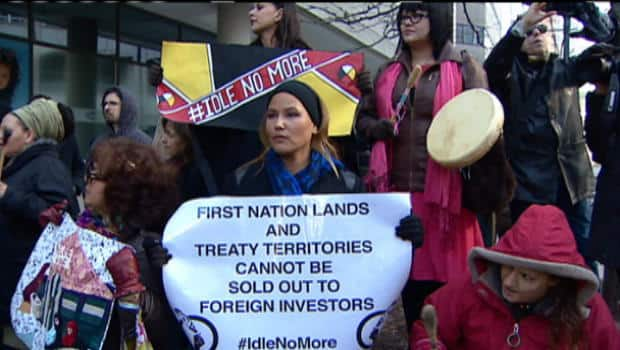 First Nations chiefs and Idle No More activists staged Canada-wide protests Wednesday, as part of a national day of action