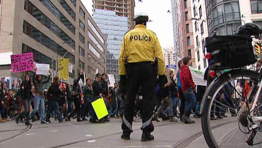 A group of Toronto marchers took to the streets Sunday afternoon in what they're calling a 'slut walk' in response to controversial comments made by a police constable earlier this year